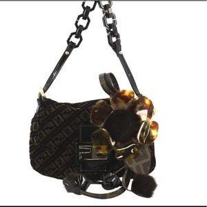 Vintage Fendi Resin Flap Bag Zucca
